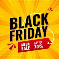 banner de venda Mega Black Friday