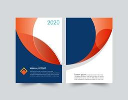modelo de relatório anual de formas laranja e azul vetor