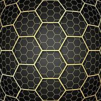 design de padrão de células sobrepostas douradas vetor