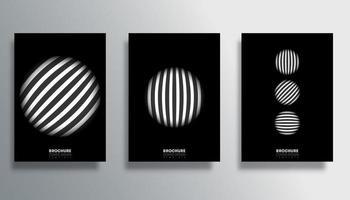 conjunto de capas com desenho de círculo listrado