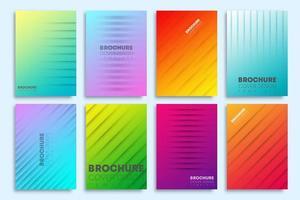 capas gradientes coloridas com linhas para panfleto, cartaz, folheto