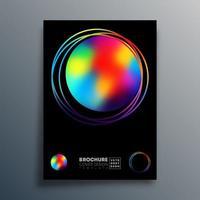 desenho de círculo gradiente para cartaz, papel de parede, folheto, brochura