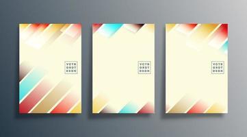 design de faixa gradiente para panfleto, cartaz, folheto vetor