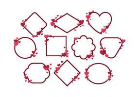 Livre Vector Frame Valentines