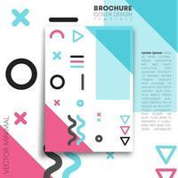 design minimalista de memphis para flyer, pôster, brochura vetor