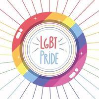 botão orgulho LGBT vetor