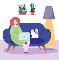 trabalhando remotamente com gato