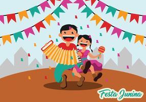 Background Festa Junina Festa vetor