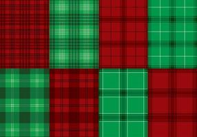 Vector flanela Textura, Verde, Vermelho
