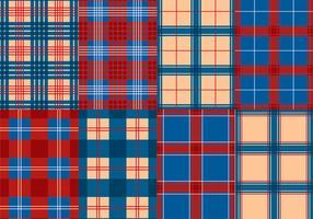 Vector de flanela azul da textura vermelho