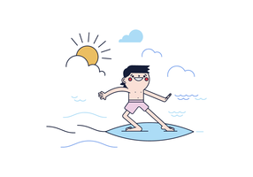 Vector livre Surfer