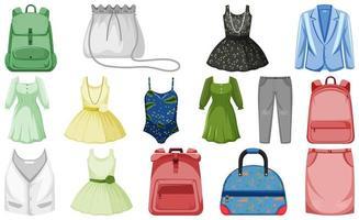 conjunto de roupa simulada vetor