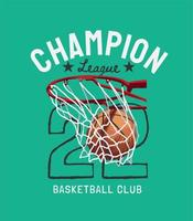 letras da liga dos campeões de basquete vetor