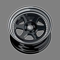 desenho de roda de carro cinza escuro vetor