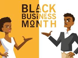 mês de negócios preto vetor