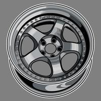 desenho da roda do carro vetor