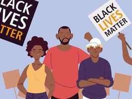 vidas negras são importantes para mãe, pai, filho vetor