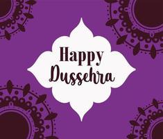 poster feliz festival dussehra da índia vetor