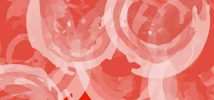 fundo de textura aquarela vermelha vetor