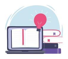 treinamento on-line. inovação, educação e tecnologia vetor