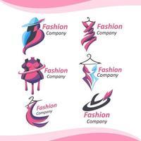 logotipo de empresa de moda elegante vetor