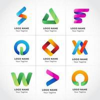 logotipo empresarial moderno geométrico vetor