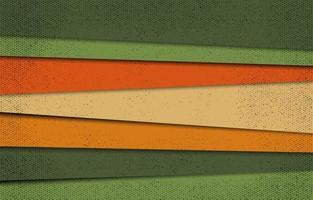forma diagonal 3d vintage vetor