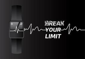 Heart Rate Fit Rastreador Vector grátis