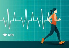 Frequência Cardíaca Run Vector grátis