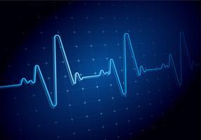 Heart Rate Azul Backgound Vector grátis