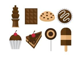 Ícones do chocolate gratuitos vetor