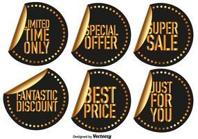 Vector etiquetas da venda