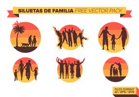 Siluetas De Familia gratuito Pacote Vector