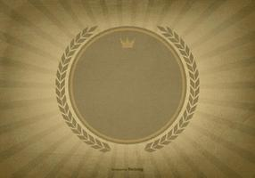 Fundo Textured Sunburst w / Blank Label