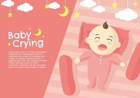 Chorando Vector Pêssego do bebê