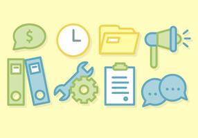 Vector de negócios Office Elements