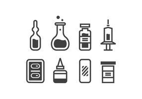 suprimentos médicos ícones vetor