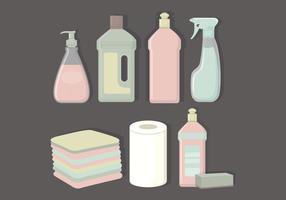 Vector coleção de produtos de limpeza