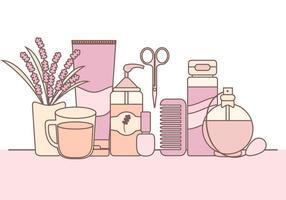 Ilustração do vetor de produtos de cuidados com a pele