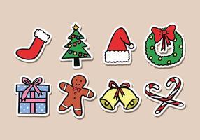 Ícones da etiqueta do Natal vetor