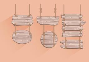 Pendurados corda Madeira Vectors Registar