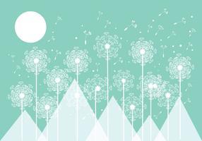 Mint Blowball Vector Background