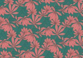 Planta de folhas de mandioca Vector