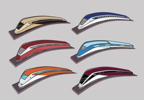 Alta velocidade ferroviária TGV cidade trem ilustração de cor vetor