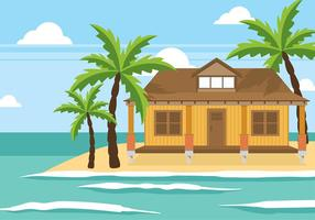 Cabana na praia Vector