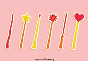 Agradáveis mágicos vetores da vara