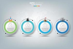 modelo de infográfico com ícones de marketing digital