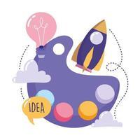 criatividade e conceito de tecnologia vetor