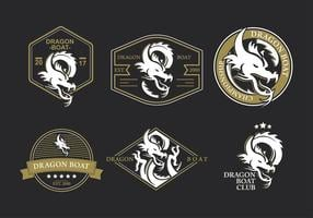 Dragon boat logo festival vector