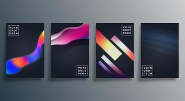 cartazes de design de textura gradiente colorida vetor